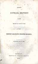 Thumbnail image of Boston Seaman's Friend Society 1836 Report cover
