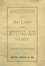 Thumbnail image of Upper Sandusky Mutual Aid Society 1888 By-Laws cover