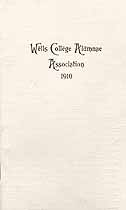 Thumbnail image of Wells College 1910 Alumnae Association cover