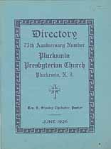 Thumbnail image of Pluckemin Presbyterian Church 1926 Directory cover