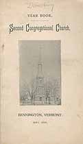 Thumbnail image of Bennington Second Congregational Church 1896 Year Book cover