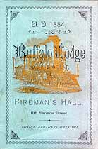 Thumbnail image of Buffalo Lodge No. 12 B. of L. F. 1884 Roster cover