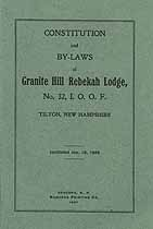 Thumbnail image of Granite Hill Rebekah Lodge 1907 By-Laws cover