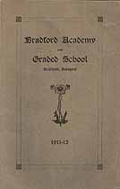 Thumbnail image of Bradford Academy and Grade School 1911-12 Catalogue cover