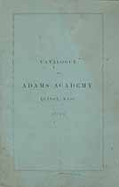 Thumbnail image of Adams Academy 1877-8 Catalogue cover