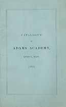 Thumbnail image of Adams Academy 1903 Catalogue cover