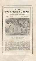 Thumbnail image of Las Cruces First Presbyterian Church 1907 Program cover