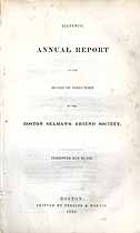 Thumbnail image of Boston Seaman's Friend Society 1839 Report cover