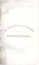 Thumbnail image of New London Literary and Scientific Institution 1854 Catalogue cover