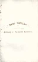 Thumbnail image of New London Literary and Scientific Institution 1856 Catalogue cover