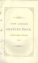 Thumbnail image of New London Literary and Scientific Institution 1869 Catalogue cover