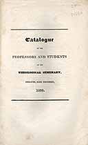 Thumbnail image of Andover Theological Seminary 1823 Catalogue cover