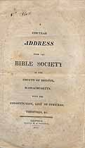 Thumbnail image of Bristol County Bible Society 1814 Officers and Trustees cover