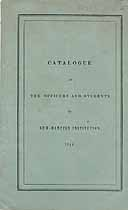 Thumbnail image of New Hampton Academical and Theological Institution 1840 Catalogue cover