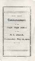 Thumbnail image of Eagle High School 1909 Commencement cover
