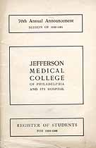 Thumbnail image of Jefferson Medical College 1900-01 Announcement cover