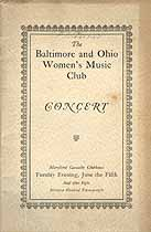 Thumbnail image of B & O Women's Music Club 1928 Concert Program cover