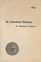 Thumbnail image of St. Johnsbury Academy 1899 Catalogue cover