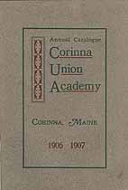 Thumbnail image of Corinna Union Academy 1906-1907 Catalogue cover