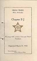 Thumbnail image of Alma P. E. O. Chapter B J 1924-1925 Calendar cover