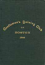 Thumbnail image of Boston Gentlemen's Driving Club 1906 Membership cover