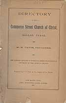 Thumbnail image of Dallas Commerce Street Church of Christ 1890 Directory cover