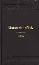 Thumbnail image of NYC University Club 1886 Members cover