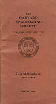 Thumbnail image of Harvard Engineering Society 1922-1923 Member List cover