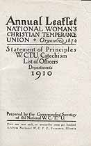 Thumbnail image of National Woman's Christian Temperance Union 1910 Leaflet cover