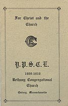 Thumbnail image of Bethany Christian Endeavor Society 1909-10 Calendar cover