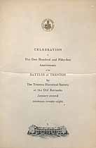 Thumbnail image of Battles of Trenton 151st Anniversary Program cover