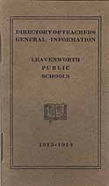 Thumbnail image of Leavenworth Public Schools 1913-1914 Directory cover