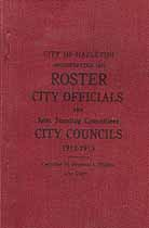 Thumbnail image of Hazelton City Officials 1912-1913 cover