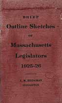 Thumbnail image of Massachusetts Legislators 1925-26 cover