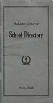 Thumbnail image of McLean County 1924-1925 School Directory cover