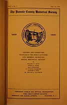 Thumbnail image of Passaic County Historical Society (1929-1930) Bulletin Vol. 1, No. 3 cover