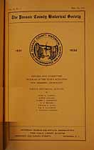 Thumbnail image of Passaic County Historical Society (1931-1932) Bulletin Vol. 2, No. 1 cover