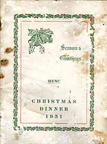 Thumbnail image of Fort Armstrong 1931 Christmas Dinner Menu cover