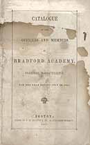 Thumbnail image of Bradford Academy 1847 Catalogue cover