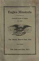 Thumbnail image of Eagles Minstrels 1911 Program cover