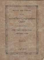 Thumbnail image of Portland Second Parish Congregational Church 1787-1912 Manual cover