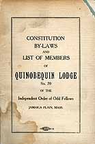 Thumbnail image of Quinobequin Lodge I.O.O.F. 1918 By-Laws cover