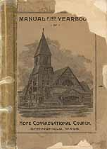 Thumbnail image of Hope Congregational Church 1891 Yearbook cover