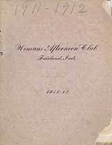 Thumbnail image of Fairland Woman's Afternoon Club 1911-1912 Programme cover