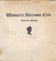 Thumbnail image of Fairland Woman's Afternoon Club 1929-1930 Programme cover