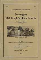 Thumbnail image of Norwegian Old People's Home Society of Chicago 1923 Report cover