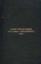 Thumbnail image of Music Supervisors National Conference 1929 cover