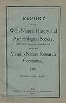 Thumbnail image of Wells Natural History and Archaeological Society 1908 Report cover