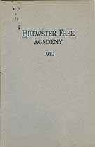 Thumbnail image of Brewster Free Academy 1920 cover