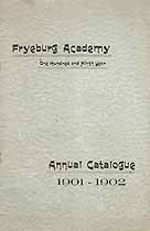 Thumbnail image of Fryeburg Academy 1901-02 Catalogue cover